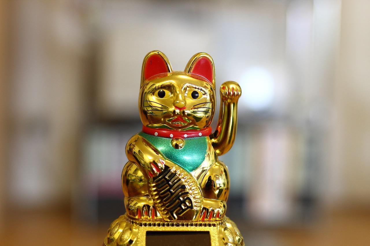 Cat Lucky Joy Decoration Gold  - Roy_Steinwandel / Pixabay